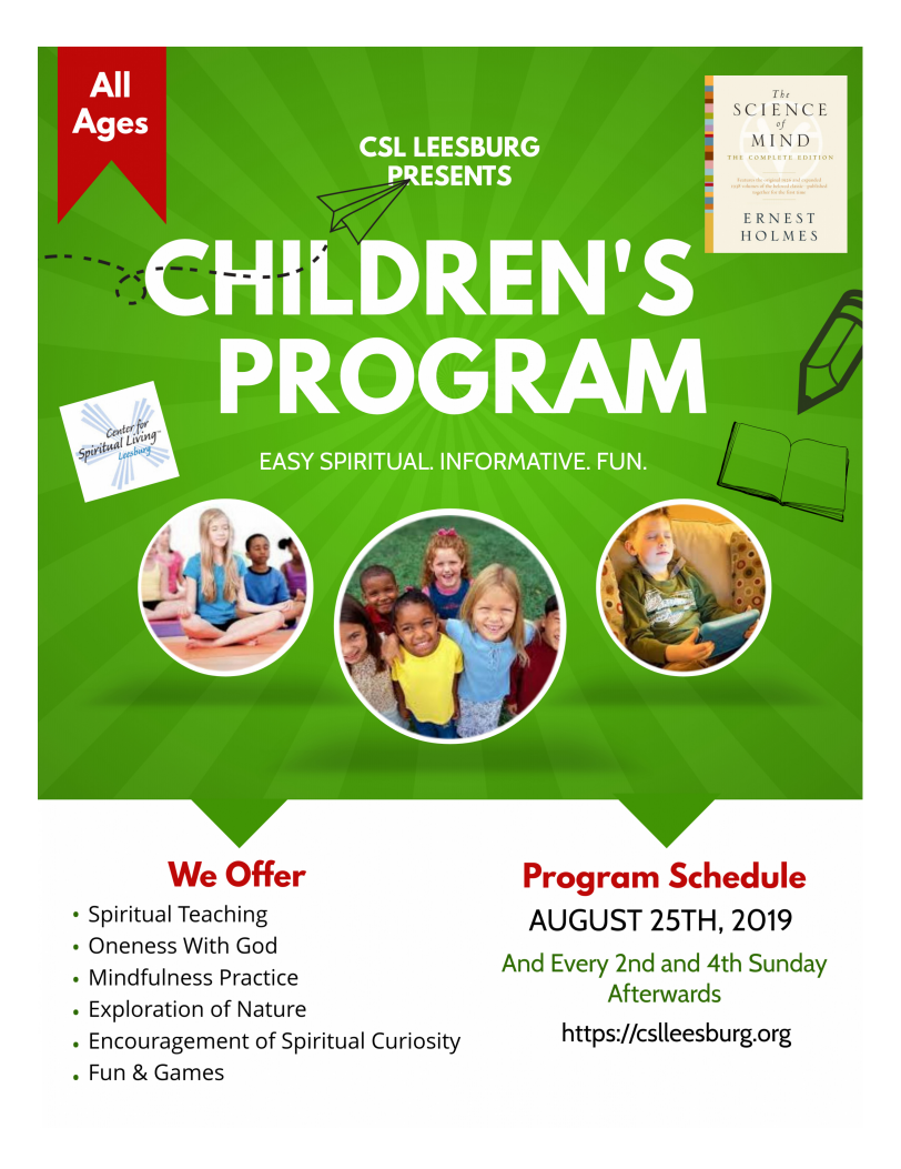 CSL Leesburg Children's Program kicks off tomorrow, Aug 25th!